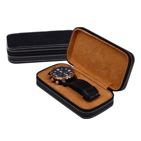 Shenzhen Custom Pocket PU Leather Watch Travel Case