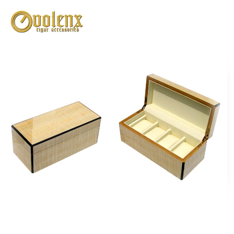 Hot Selling Custom Logo  Wooden Jewelry Box Glossy Wooden Gift Box