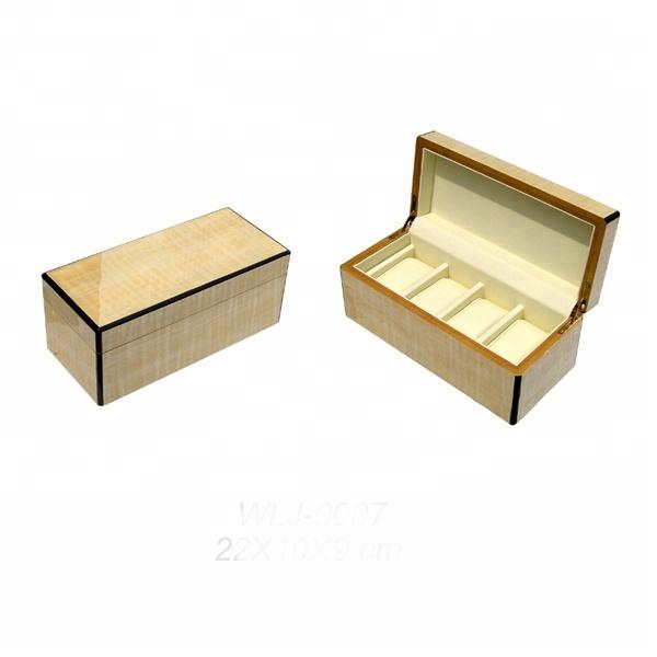 New Design Custom Logo Luxury Unique Luxurious Wooden Watch Box