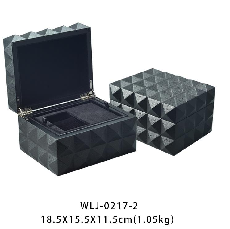 Unique design luxury handmade paint wooden velvet jewelry packaging box