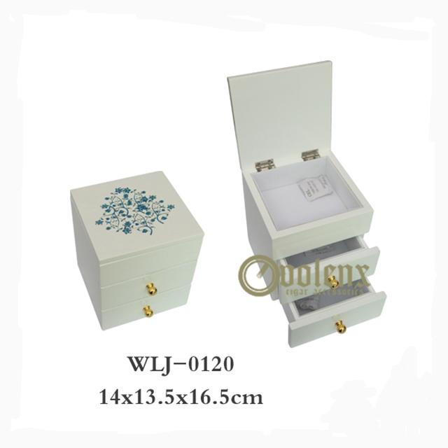 Custom Logo 3 Layer Wooden Jewelry Packaging Box