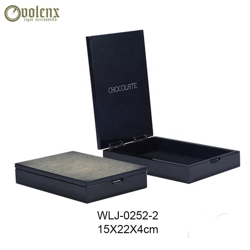 Black Gloss Wholesale Food Grade Empty Chocolate Packaging Box