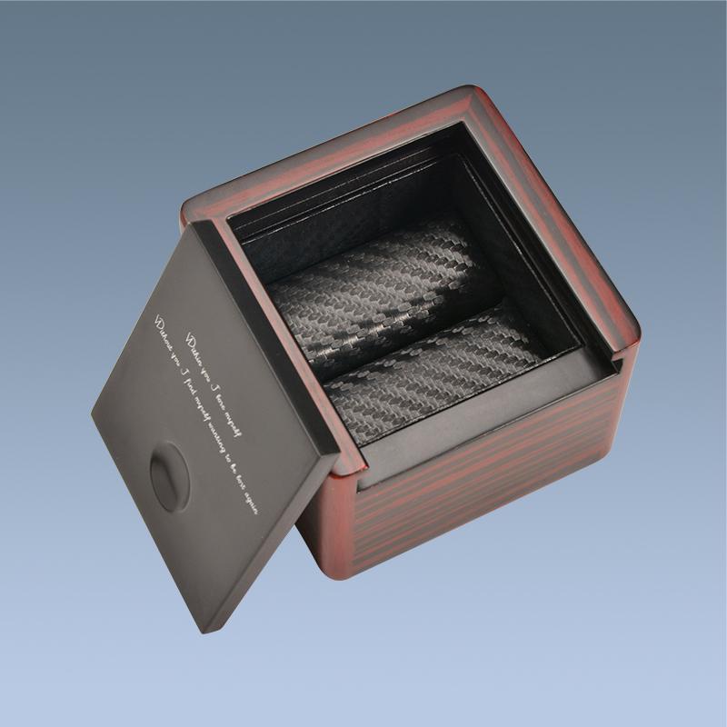 OEM side open gift box wholesale custom bracelet wooden sliding boxes