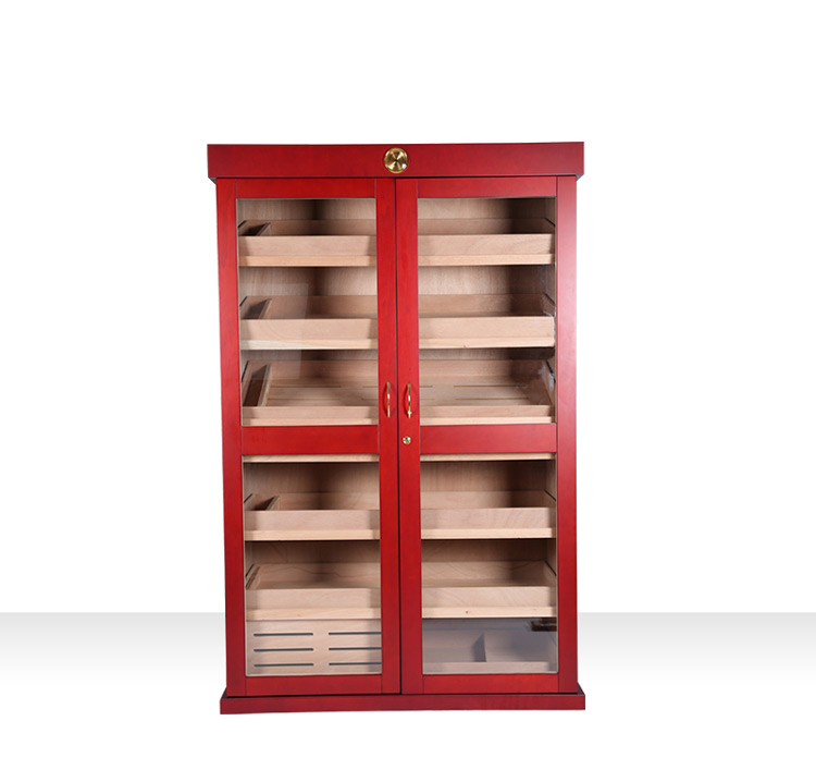 Custom large wooden cigar cabinet for display 11