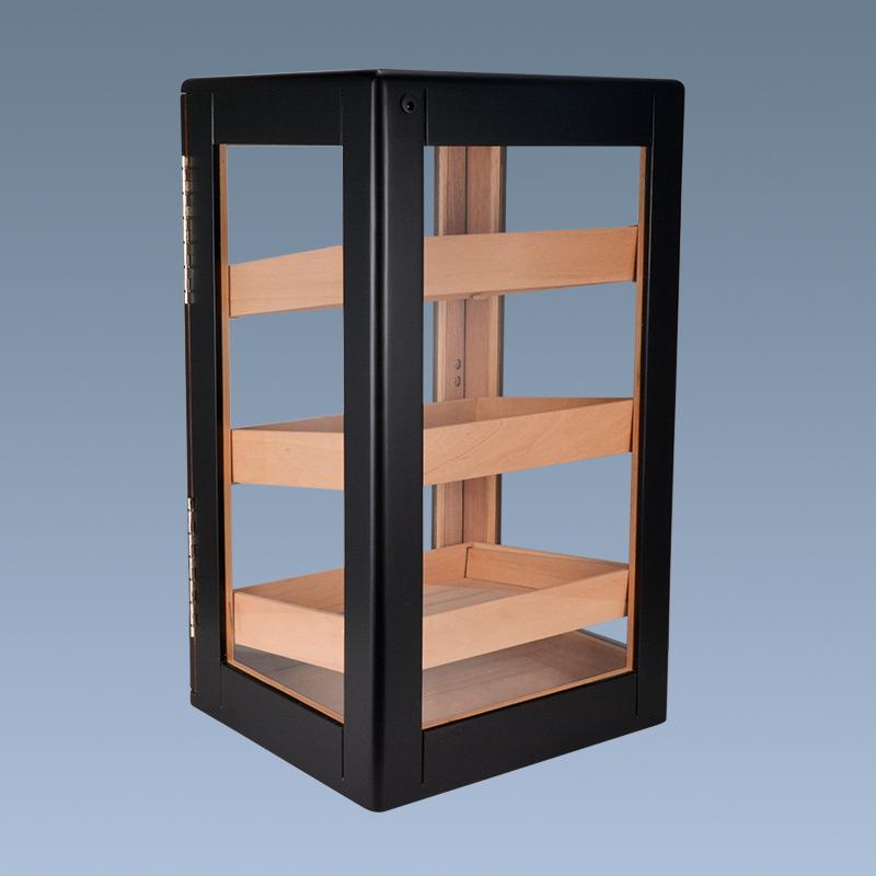Hot sale high quality black handmade cigar cabinet for sale