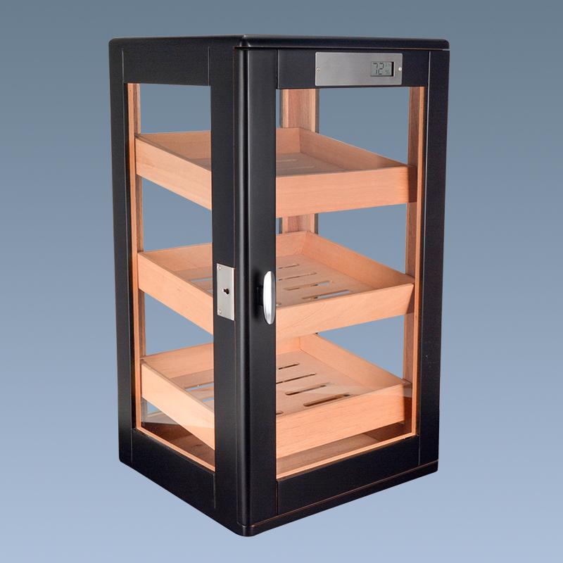 Hot sale high quality black handmade cigar cabinet for sale 3