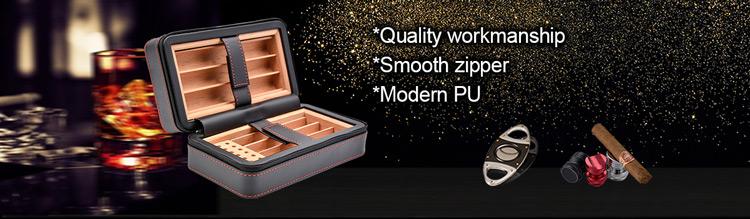 High Quality genuine leather cigar case
