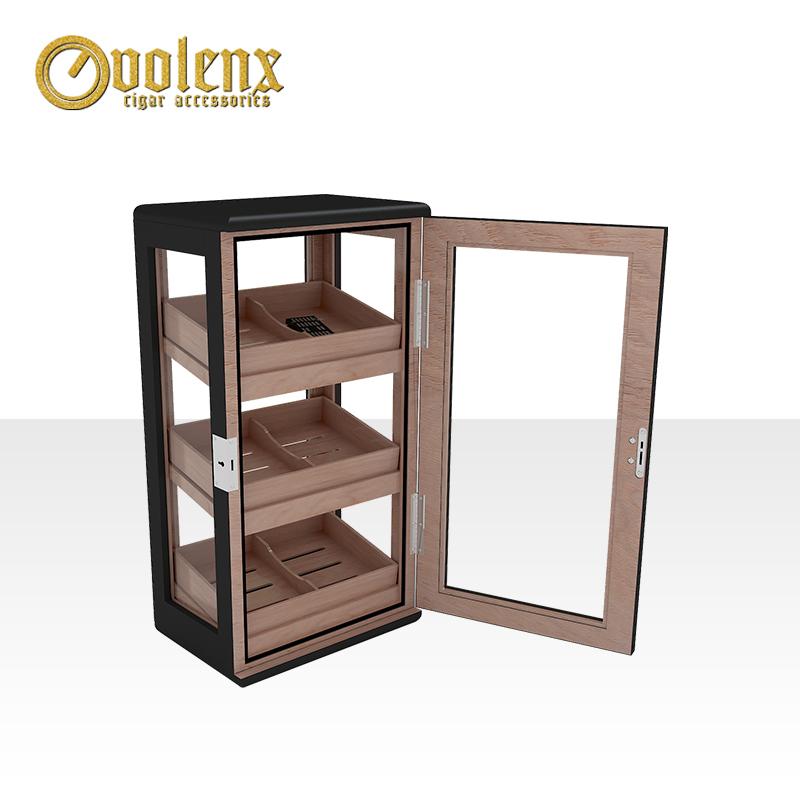 Spanish-cedar-veneer-300pcs-cigar-cabinet-antique
