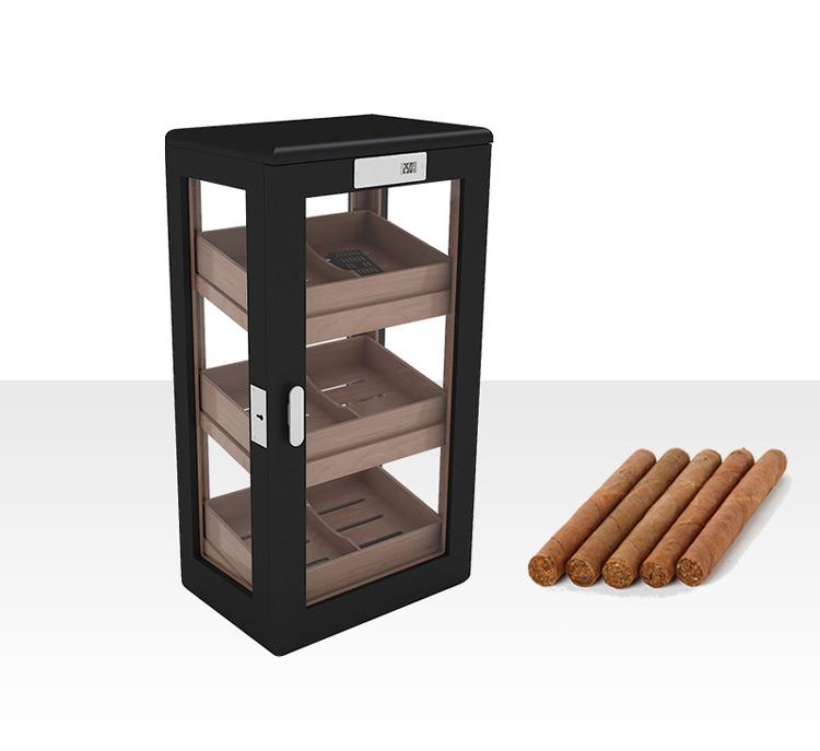 Spanish cedar veneer 300pcs cigar cabinet antique with hygrometer humidifier 7
