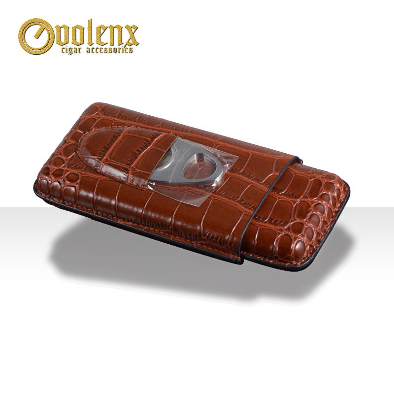 Wholesale-Crocodile-PU-Leather-Cigar-Case-Travel