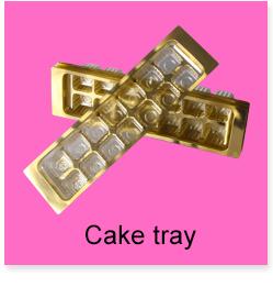 Custom Hot Selling Plastic Heart-shape Chocolate Golden Tray 19