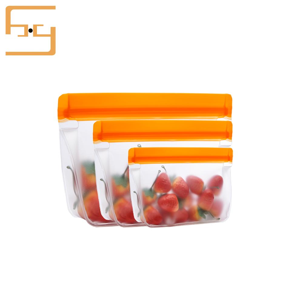 Custom Logo PEVA Bag PEVA Biodegradable Plastic Bag Sandwich Bag Food Grade PEVA