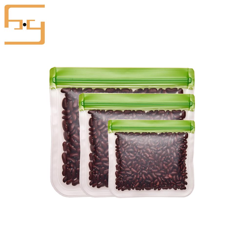 Biodegraded Food Grade PEVA Bag PEVA Food Storage Bag FDA Approved Food Storage Bags Reusable PEVA